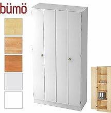 Bümö® Office Falttürenschrank aus Holz inkl.