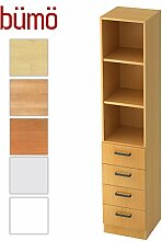 Bümö® Office Schubkasten-Regal Schrank aus Holz