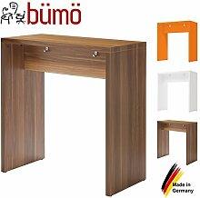 BÜMÖ Stehtisch aus Holz   Meetingpoint   Besprechungstisch   Pausentisch in 3 Dekoren (Zwetschge)