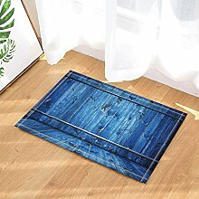 BuEnn Dekorationen rustikal blau Retro Holz