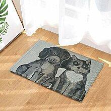BuEnn Freundschaft Dekor Hund und Katze Porträt