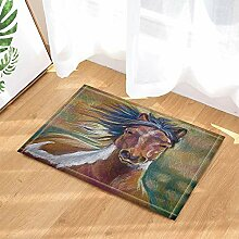 BuEnn Tierdekor Aquarell Malerei Pferd Grasland