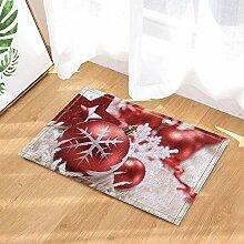BuEnn Weihnachtsdekor Schneeflocke Druck Rote