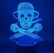Büro Dekoration Ambiente Lichter Nachtlichter 3D