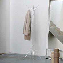 Büro Garderobenständer in Weiß Stahl