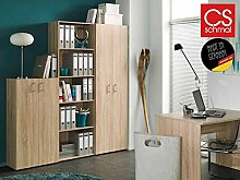 Büro-Kombi Set Möbel Schrank Regal Beistellregal