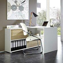Büro Schreibtisch mit Regalteil 120 cm breit