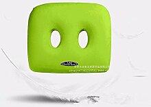 Büro Stuhl Kissen, Doppel-Loch American Gesäß Kissen, Memory Cotton Kissen, 43x36x8x6cm, grün