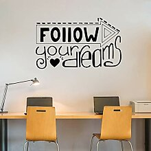 Büro Wandtattoos folgen Ihrem Traum, um