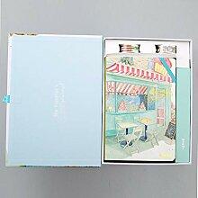 Bürobedarf Hartes Notizbuch mit farbigem