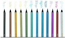 Bürobedarf Hölzerner Farbstiftsatz mit 12