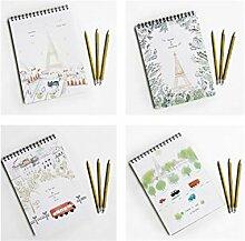 Bürobedarf Kreative Landschaft Tagebuch und