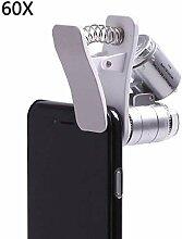Bürobedarf LED Lupe Zoom Mikroskop 60X