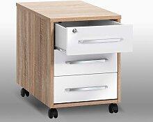 Bürocontainer in Eiche Sonoma Weiß abschließbar