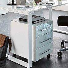Bürocontainer in Weiß mit Glas beschichtet