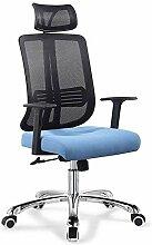 Bürodrehstuhl mit Kopfstütze, T-Armlehne,