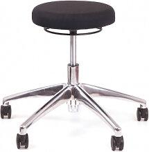 Bürohocker Chairsupply 330 Stoff schwarz Alu