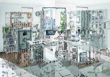 Bürokombination 3-tlg inkl Hochregal Office Lux