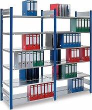 Büroregal blau H2700xB1000xT600mm Büro