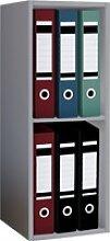 Büroregal OFFAS 3-fach(BHT 34x72x30 cm) VCM grau