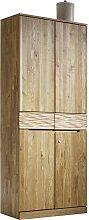 Büroschrank aus Wildeiche Massivholz mit Schublade
