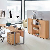 Büroschrank in Buche hell 1 türig abschließbar