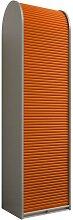 Büroschrank mit Rollo Orange Silberr