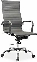 Bürostuhl 'Madison' Chefsessel Drehstuhl Sessel Farbwahl, Farbe:Grau