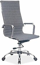 Bürostuhl 'Madison- Grau' Chefsessel Drehstuhl Sessel Grau Stoff