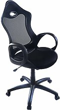 Bürostuhl Bürodrehstuhl Schreibtischstuhl Chefsessel Netz Stuhl Arbeitshocker Bürodrehstuhl Drehstuhl ergonomisch Chefstuhl (Schwarz)