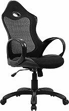Bürostuhl Bürodrehstuhl Schreibtischstuhl Chefsessel Netz Stuhl Arbeitshocker Bürodrehstuhl Drehstuhl ergonomisch Chefstuhl drei Farben (Schwarz)