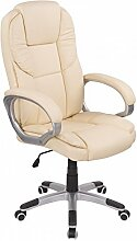 Bürostuhl Chefsessel Profi Drehstuhl Kunstleder Schreibtischstuhl Bürodrehstuhl Sessel Stuhl Creme