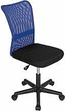 Bürostuhl Drehstuhl Schreibtischstuhl Büro Dreh Stuhl Blau-Schwarz