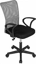 Bürostuhl Drehstuhl Schreibtischstuhl Büro Dreh Stuhl mit Armlehnen Grau-Schwarz