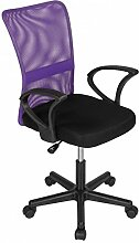 Bürostuhl Drehstuhl Schreibtischstuhl Büro Dreh Stuhl mit Armlehnen Lila-Schwarz