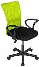 Bürostuhl Drehstuhl Schreibtischstuhl Büro Dreh Stuhl mit Armlehnen Grün-Schwarz