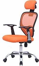 Bürostuhl Drehstuhl Schreibtischstuhl Bürosessel Chefsessel Stuhl D07 (orange)