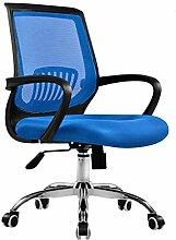 Bürostuhl Drehstuhl Schreibtischstuhl Bürosessel Chefsessel Stuhl C20M (blau)