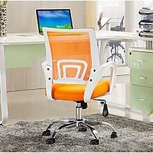 Bürostuhl Drehstuhl Schreibtischstuhl Bürosessel Chefsessel Stuhl C12 (orange/weiß)