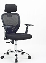 Bürostuhl Drehstuhl Schreibtischstuhl Bürosessel Chefsessel Stuhl D07 (schwarz)
