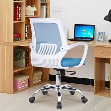 Bürostuhl Drehstuhl Schreibtischstuhl Bürosessel Chefsessel Stuhl C20M (weiß/blau)