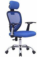 Bürostuhl Drehstuhl Schreibtischstuhl Bürosessel Chefsessel Stuhl D07 (blau)
