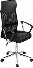 Bürostuhl Drehstuhl Schreibtischstuhl Designdrehkreuz PU Leder Netzstoff Bürodrehstuhl Bürosessel Büro Stuhl Schwarz
