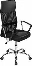 Bürostuhl Drehstuhl Schreibtischstuhl PU Leder Netzstoff Bürodrehstuhl Bürosessel Büro Dreh Stuhl Schwarz