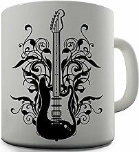 Bürostuhl in Gitarrenform neue Geschenkidee Kaffeetasse Tasse aus Keramik