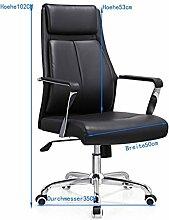 Bürostuhl Schreibtischstuhl, ergonomischer Drehstuhl mit Netzrücken, Wippfunktion feste Armlehne höhenverstellbar, Schwaz Chefsessel mit Mesh Netz in Schwarz, JLB011-BS