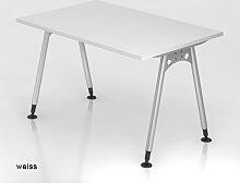 Bürotisch Hammerbacher A-Serie 120 x 80 cm weiss