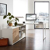 Bürotisch in Weiß Eiche Sideboard