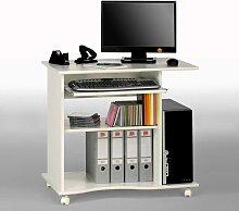 Bürotisch mit Tastaturauszug Rollbar