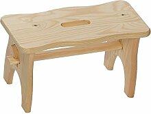 Bütic Holz-Fussbank, Tritthocker, Holzbank aus nachhaltig hergestelltem FSC-zertifiziertem Nadelholz